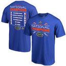 Florida Gators Fanatics Branded 2017 NCAA Men's Baseball College World Series National Champions Line Drive Schedule T-Shirt - R