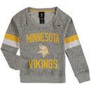 Minnesota Vikings Girls Youth My City Boat Neck Pullover Sweatshirt - Gray