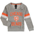Chicago Bears Girls Youth My City Boat Neck Pullover Sweatshirt - Gray