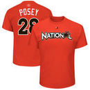 Buster Posey National League Majestic 2017 MLB All-Star Game Name & Number T-Shirt - Orange