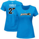 Mike Trout American League Majestic Women's 2017 MLB All-Star Game Name & Number T-Shirt - Blue