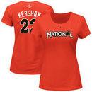 Clayton Kershaw National League Majestic Women's 2017 MLB All-Star Game Name & Number T-Shirt - Orange