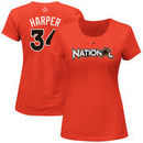 Bryce Harper National League Majestic Women's 2017 MLB All-Star Game Name & Number T-Shirt - Orange
