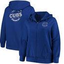 Chicago Cubs Majestic Women's Fleece Full-Zip Hoodie - Royal