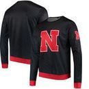 Nebraska Cornhuskers Tide Static Rain Sweatshirt - Black