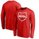 Memphis Hustle Fanatics Branded Primary Logo Big & Tall Long Sleeve T-Shirt - Red