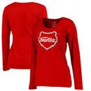 Memphis Hustle Fanatics Branded Women's Primary Logo Plus Size Long Sleeve T-Shirt - Red