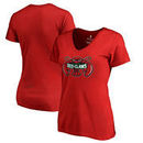 Maine Red Claws Fanatics Branded Woman's Primary Logo Plus Size V-Neck T-Shirt - Red