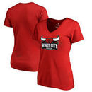 Windy City Bulls Fanatics Branded Woman's Primary Logo Plus Size V-Neck T-Shirt - Red