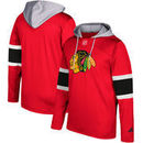 Chicago Blackhawks adidas Silver Jersey Pullover Hoodie - Red