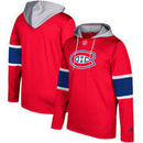 Montreal Canadiens adidas Silver Jersey Pullover Hoodie - Red