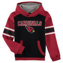 Arizona Cardinals Youth Allegiance Pullover Hoodie - Cardinal/Black