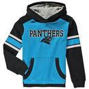 Carolina Panthers Youth Allegiance Pullover Hoodie - Powder Blue/Black