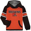 Cleveland Browns Youth Allegiance Pullover Hoodie - Orange/Brown