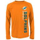 Miami Dolphins Youth Magna Gravity Field Dri-Tek Long Sleeve T-Shirt - Orange