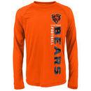 Chicago Bears Youth Magna Gravity Field Dri-Tek Long Sleeve T-Shirt - Orange