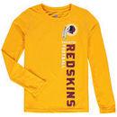 Washington Redskins Youth Magna Gravity Field Dri-Tek Long Sleeve T-Shirt - Yellow