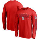 St. Louis Cardinals Fanatics Branded Front Line Long Sleeve T-Shirt - Red