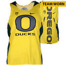 Oregon Ducks Fanatics Authentic Women's Lacrosse Team-Worn #42 Green and Yellow Long Sleeve Jersey used between the 2010 - 2016