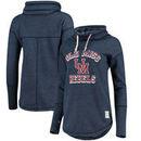 Ole Miss Rebels Original Retro Brand Women's Tri-Blend Funnel Neck Pullover Sweatshirt - Navy