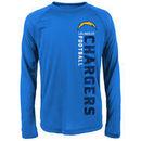 Los Angeles Chargers Youth Magna Gravity Field Dri-Tek Long Sleeve T-Shirt - Light Blue