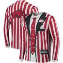 Arkansas Razorbacks Faux Real Apparel Faux Suit Long Sleeve Shirt - Multi