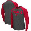 Louisville Cardinals Colosseum Olympus II Raglan Long Sleeve T-Shirt – Heathered Charcoal/Red