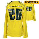 Oregon Ducks Fanatics Authentic Team-Worn Women's Soccer #26 Yellow and Green Long Sleeve Jersey used between the 2011 - 2016 Se