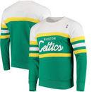 Boston Celtics Mitchell & Ness Coaches Crew Neck Pullover Sweatshirt - Kelly Green