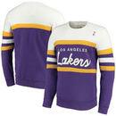 Los Angeles Lakers Mitchell & Ness Coaches Crew Neck Pullover Sweatshirt - Purple