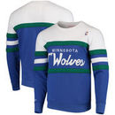 Minnesota Timberwolves Mitchell & Ness Coaches Crew Neck Pullover Sweatshirt - Blue