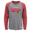 Chicago Blackhawks Youth Hockey Roots Long Sleeve Tri-Blend T-Shirt - Heathered Gray/Red