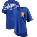 Golden State Warriors Fanatics Branded Women's 2017 NBA Finals Champions V-Neck Spirit Jersey T-Shirt - Royal