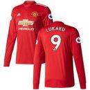 Romelu Lukaku Manchester United adidas 2017/18 Home Replica Patch Long Sleeve Jersey - Red