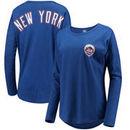 New York Mets '47 Women's Courtside Long Sleeve T-Shirt - Royal
