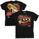 Joey Logano Checkered Flag Shell Pennzoil Darlington Car T-Shirt - Black