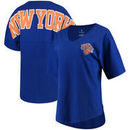 New York Knicks Fanatics Branded Women's Baseline Spirit Jersey V-Neck T-Shirt – Blue