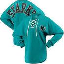 San Jose Sharks Fanatics Branded Women's Lace Up Long Sleeve Spirit T-Shirt – Teal