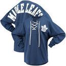 Toronto Maple Leafs Fanatics Branded Women's Lace Up Long Sleeve Spirit T-Shirt – Blue