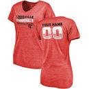Louisville Cardinals Fanatics Branded Women's Personalized Retro Tri-Blend V-Neck T-Shirt - Red