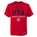 Team USA Olympics in Mountain T-Shirt - Red