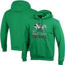 Notre Dame Fighting Irish Champion Football Drop Powerblend Pullover Hoodie - Kelly Green