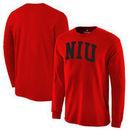 Northern Illinois Huskies Fanatics Branded Basic Arch Long Sleeve Expansion T-Shirt - Cardinal