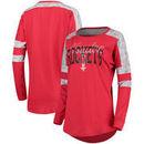 Houston Rockets 5th & Ocean by New Era Women's Space Dye Baby Jersey Long Sleeve T-Shirt – Red