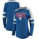 Philadelphia 76ers 5th & Ocean by New Era Women's Space Dye Baby Jersey Long Sleeve T-Shirt – Royal