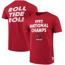 Alabama Crimson Tide Original Retro Brand 1992 National Champions T-Shirt - Crimson