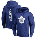 Auston Matthews Toronto Maple Leafs Fanatics Branded Backer Name & Number Pullover Hoodie - Blue