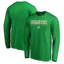 Colorado State Rams Fanatics Branded True Sport Football Long Sleeve T-Shirt - Green