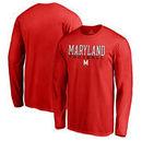 Maryland Terrapins Fanatics Branded True Sport Football Long Sleeve T-Shirt - Red