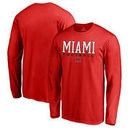 Miami University RedHawks Fanatics Branded True Sport Football Long Sleeve T-Shirt - Red
